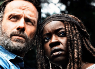 rick e michonne em the walking dead