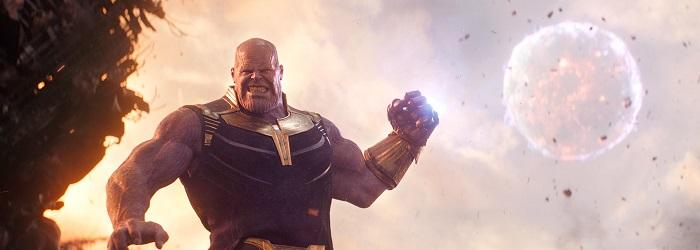 Thanos usando seus poderes em vingadores guerra infinita