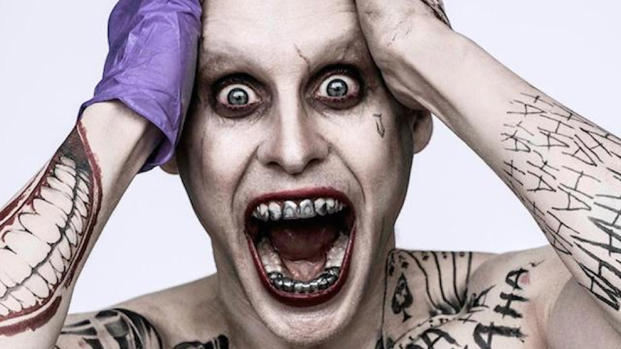 Jared Leto em poster de Esquadrão Suicida, como o novo Coringa da DC