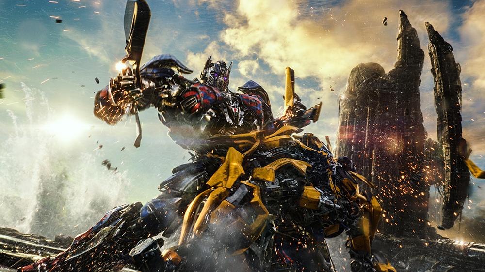 cena de ação em transformers 5