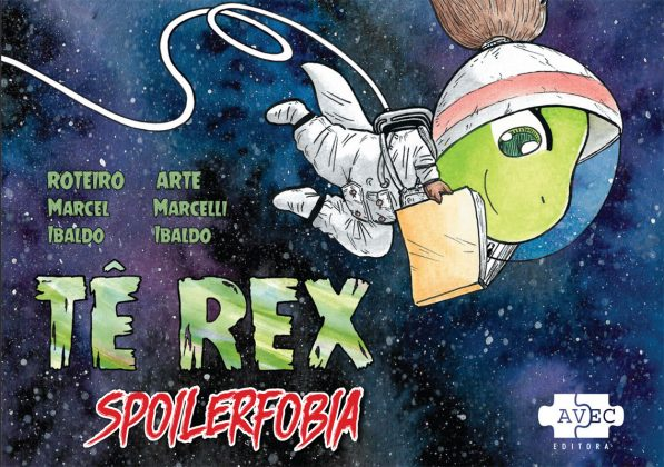 Tê Rex Spoilerfobia avec editora marcel ibaldo e marcelli ibaldo
