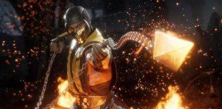 Foto de Mortal Kombat 11 mostrando o personagem Scorpion em ação