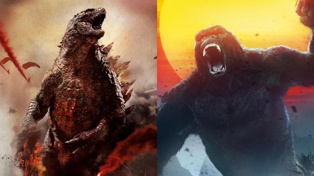 Imagem com Godzilla e Kong