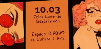 arte de Brandda Maria para a Feira Livre de Quadrinhos