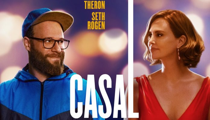 casal improvável seth rogen charlize thron paris filmes