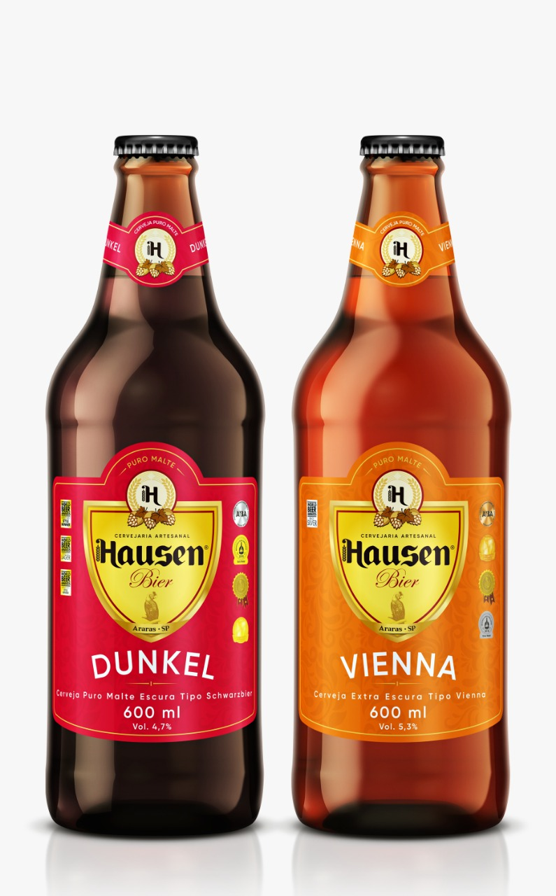 hausen beer dunkel e vienna cerveja artesanal