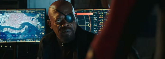 nick fury no filme da sony